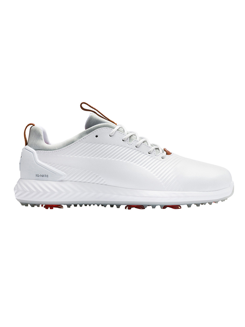 Puma IGNITE PWRADAPT Leather 2.0 Golf Shoes Puma White