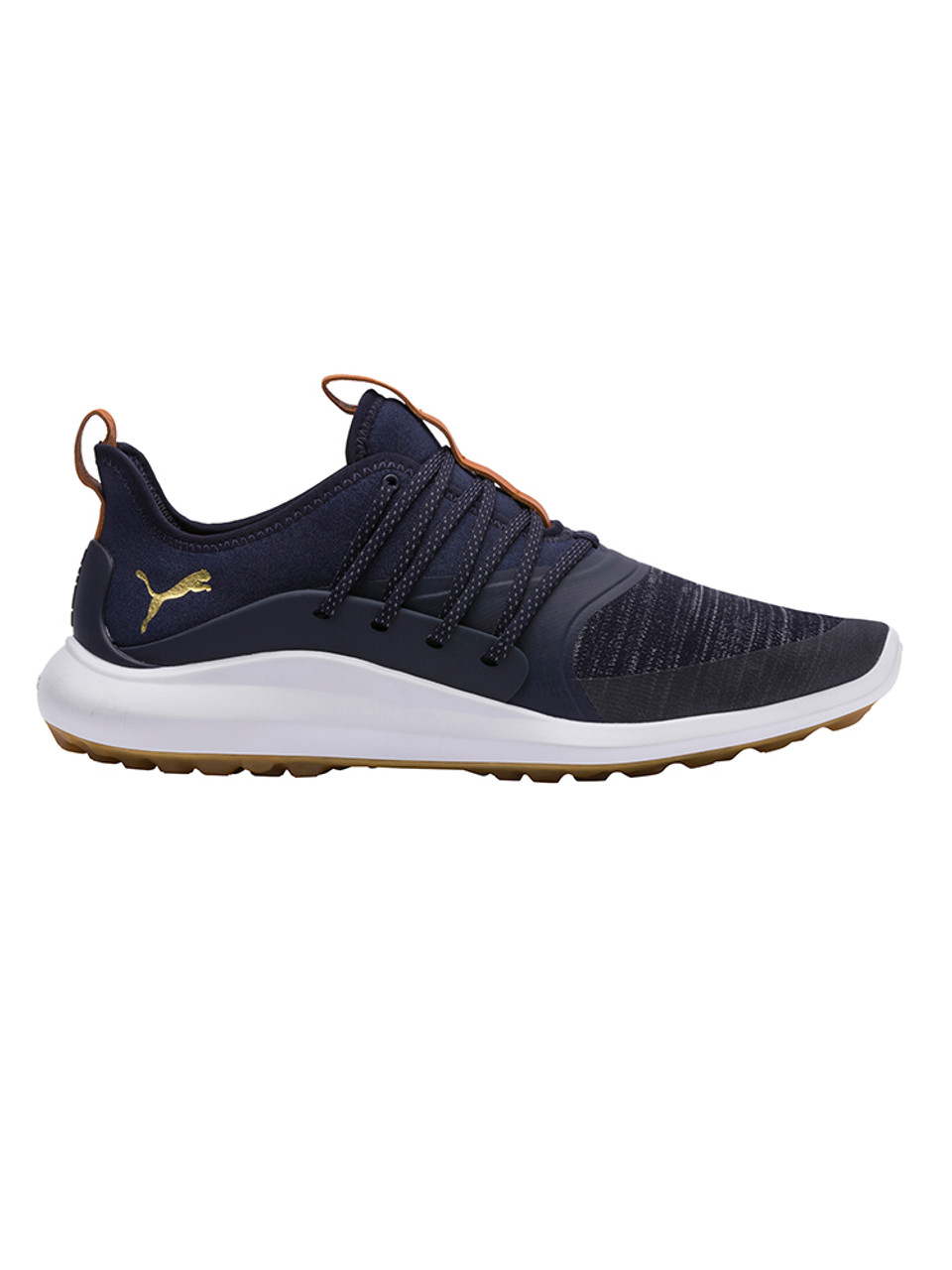 Puma Ignite NXT Solelace Golf Shoes PeacoatGold