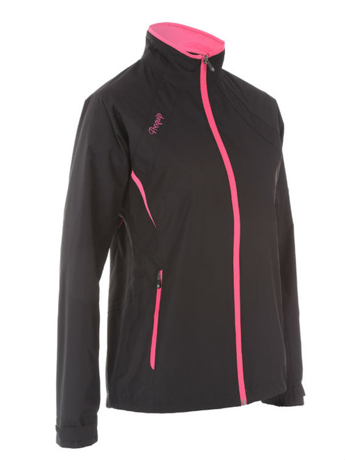 Proquip Ladies Sienna Aquastorm Rain Jacket - Black/Pink