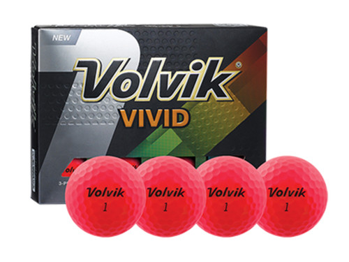 Volvik Vivid Golf Balls - 1 Dozen Pink