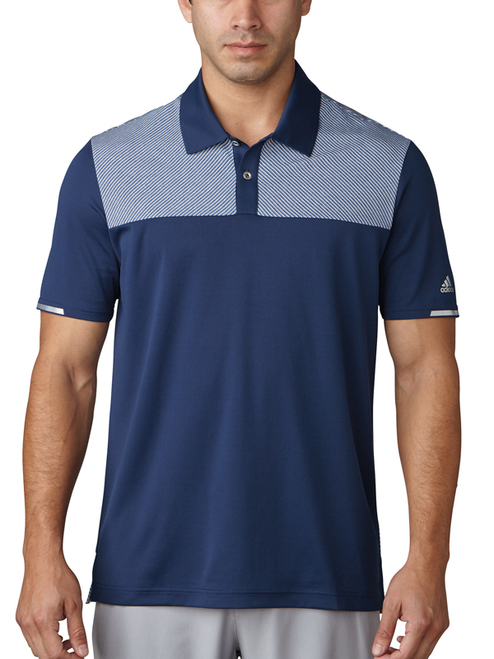 Adidas Climachill Heather Block Competition Polo - Dk Slate