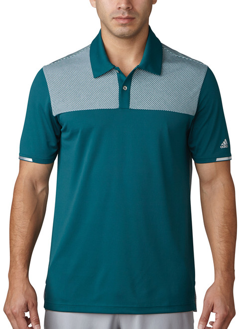 Adidas Climachill Heather Block Competition Polo - Green