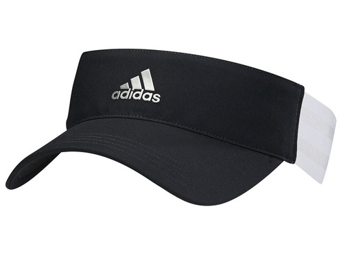 Adidas Ladies 3-Stripes Visor - Black