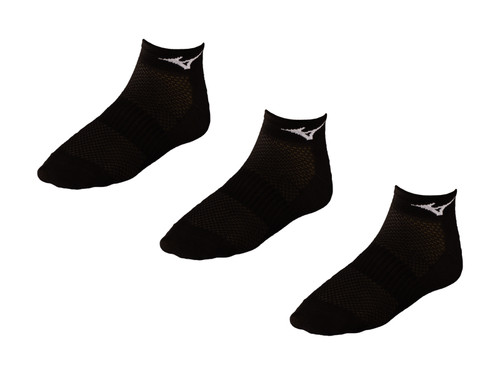 Mizuno DryLite 3 Pack Socks - Black