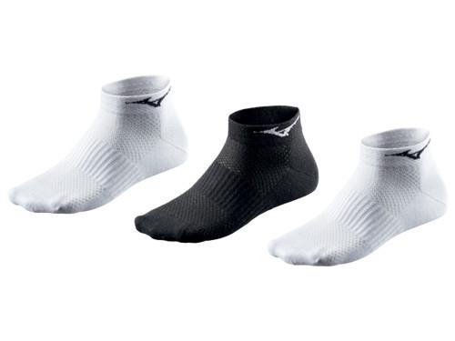 Mizuno DryLite 3 Pack Socks - White/Black