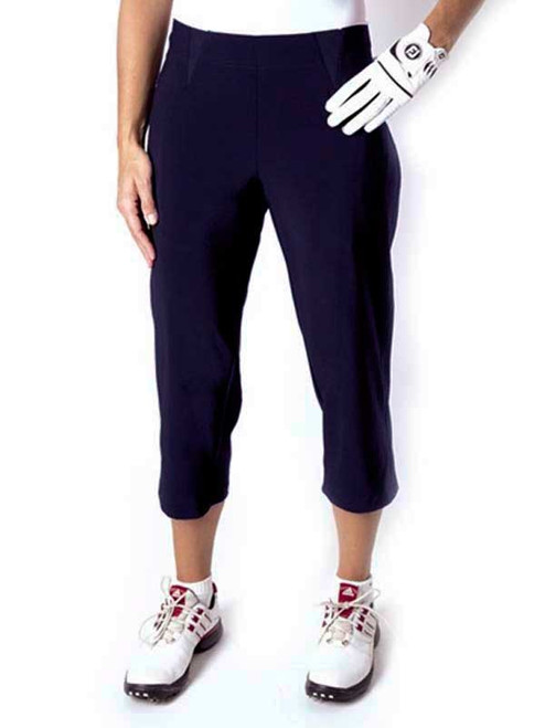 Birdee Golf Ladies Slide On Capri - Navy