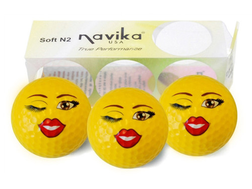 Navika Golf Balls - 3 Pack Vixen Yellow