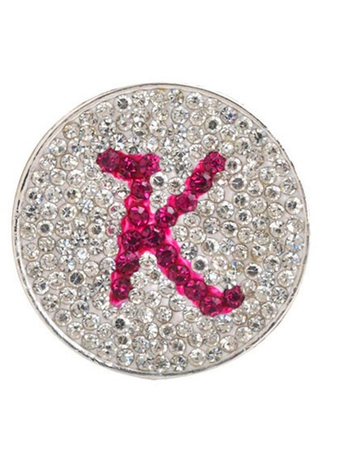 Navika Micro Pave Crystal Initial K Marker