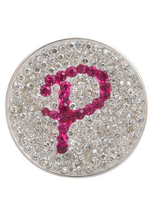 Navika Micro Pave Crystal Initial P Marker