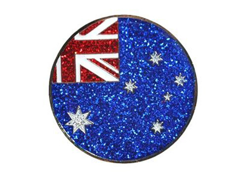 Navika Glitzy Australian Flag Ball Marker