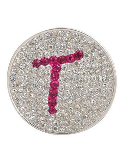 Navika Micro Pave Crystal Initial T Marker