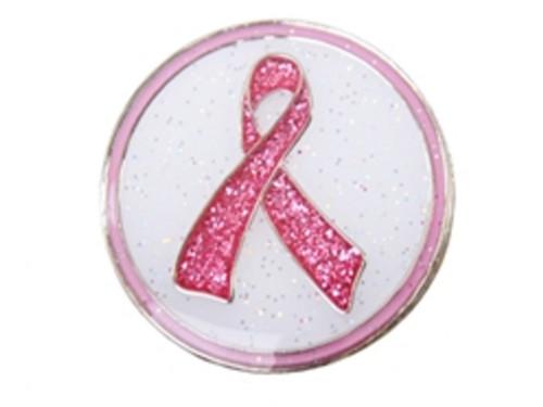 Navika Glitzy Pink Ribbon Ball Marker