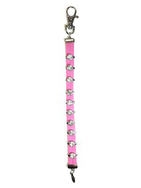 Navika Leather Crystal Stroke Counter Pink