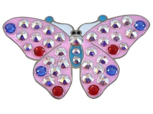 Navika Swarovski Crystal Butterfly Pink Marker