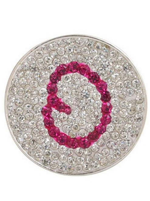Navika Micro Pave Crystal Initial O Marker