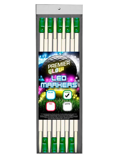 Premier Glow LED Yardage Marker 12PK Green