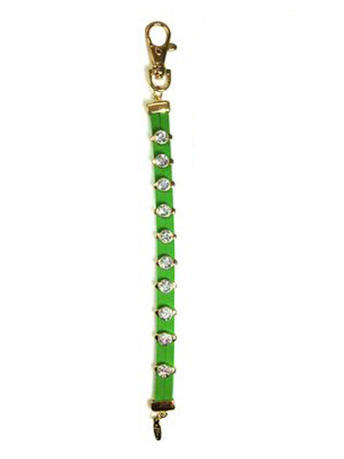 Navika Leather Crystal Stroke Counter Green