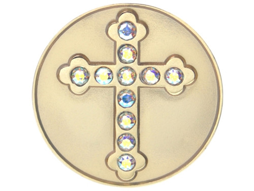 Navika Swarovski Crystal Cross Marker
