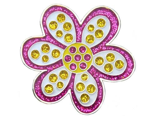 Navika Glitzy Oopsy Daisy Purple Ball Marker