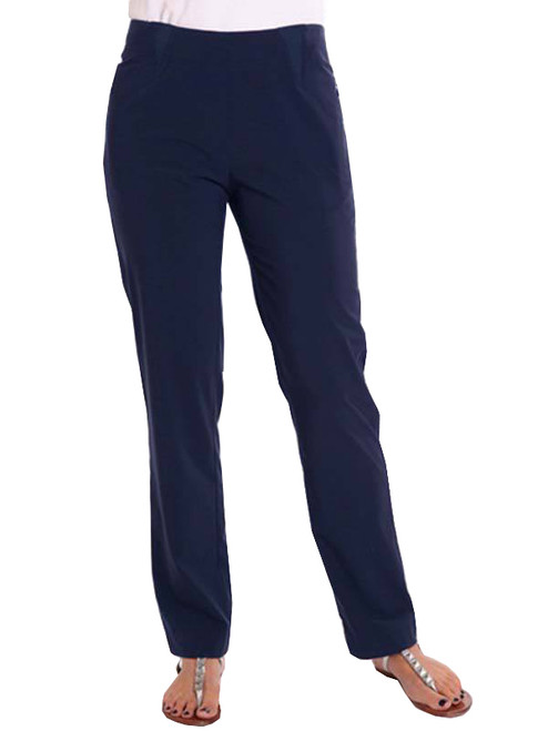 Birdee Golf Techno Slide On Ladies Pant - Navy