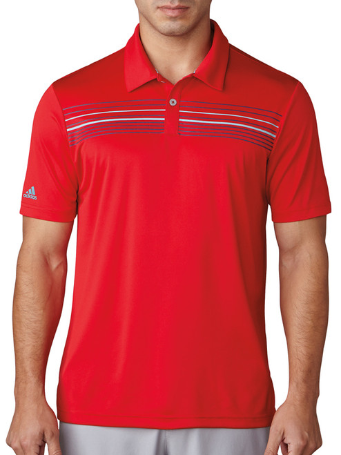 Adidas Climacool Chest Print Polo - Scarlet