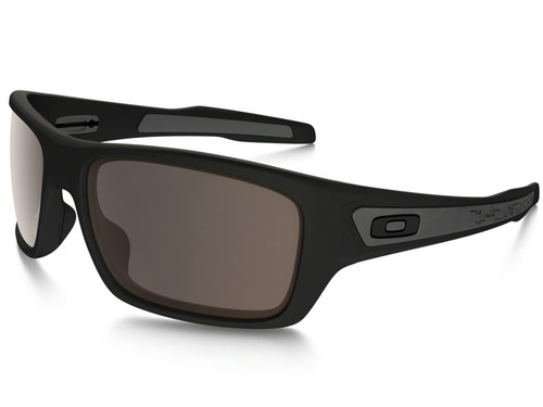 Oakley Turbine Sunglasses - Matte Black w/ Warm Grey