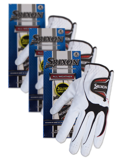 Srixon All Weather Ladies Pack Of 6 Golf Gloves - White