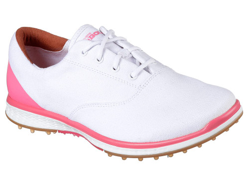 Skechers Ladies Go Golf Elite 2 Golf Shoes - White/Pink