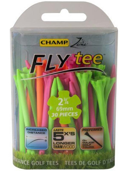 CHAMP Neon Fly Tees 30 Pack 2.75 Inch Mixed