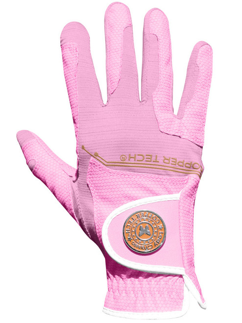 Copper Tech Ladies All Weather Golf Glove - Pink