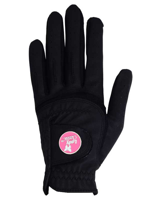Lady Classic Ladies Form Fit Ball Marker Glove - Black