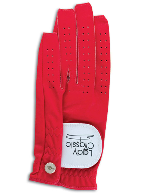 Lady Classic Nail & Ring Cabretta Leather Glove - Red