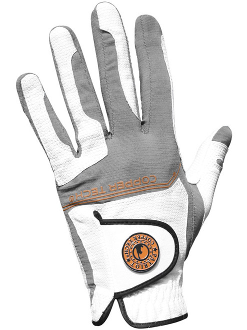 Copper Tech All Weather Golf Glove - White/Grey