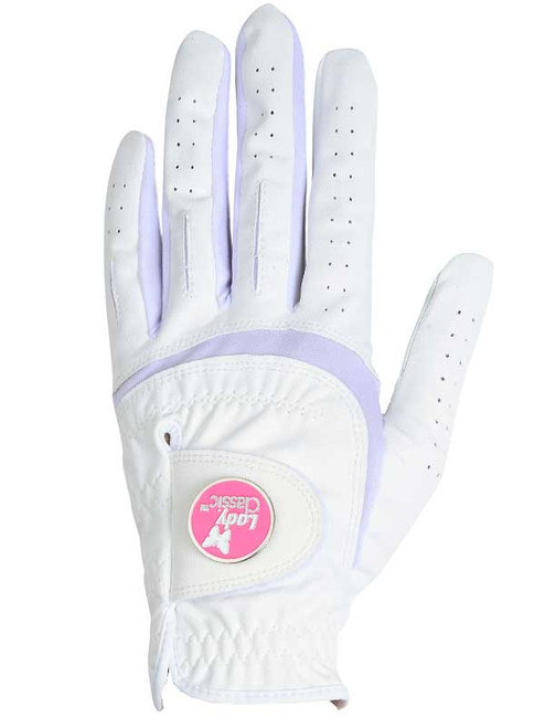 Lady Classic Ladies Form Fit Ball Marker Glove - White