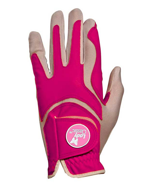 Lady Classic Ladies Form Fit Ball Marker Glove - Fuschsia