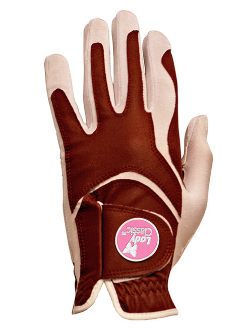 Lady Classic Ladies Form Fit Ball Marker Glove - Burgundy