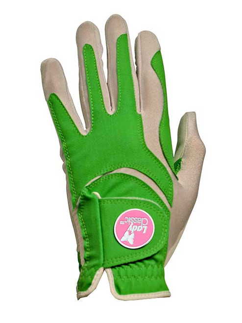 Lady Classic Ladies Form Fit Ball Marker Glove - Lime