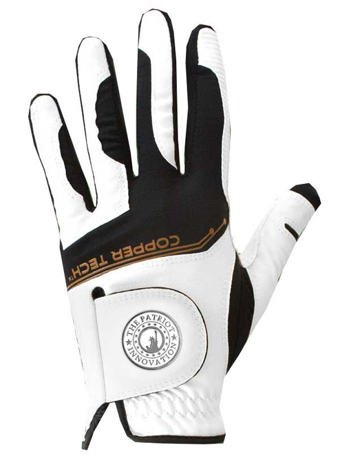 Copper Tech Golf Glove - White/Black