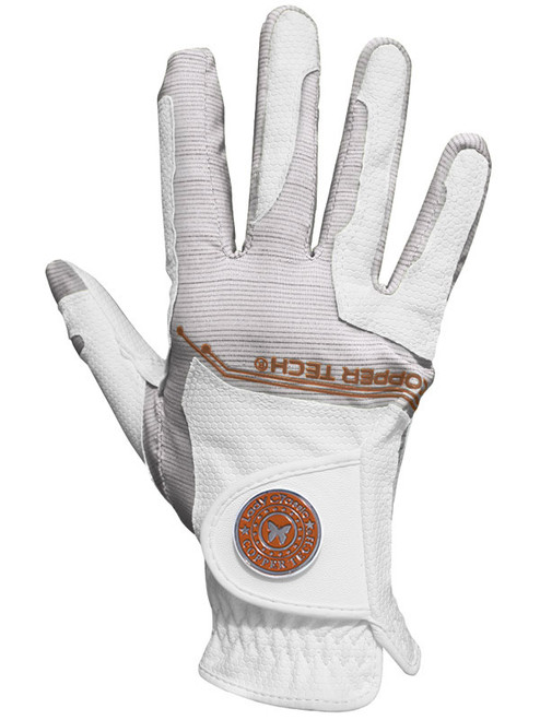 Copper Tech Ladies All Weather Golf Glove - White