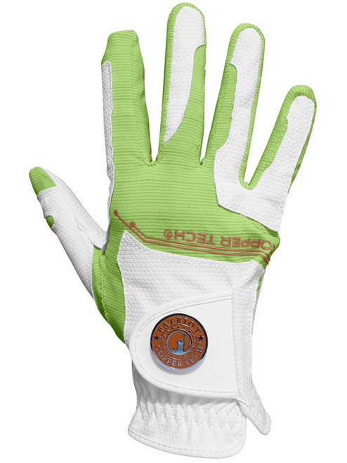 Copper Tech Ladies All Weather Golf Glove - White/Lime