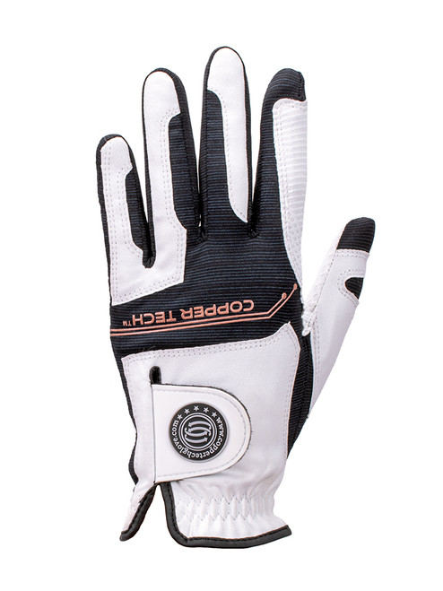 Copper Tech Ladies Golf Glove - White/Black