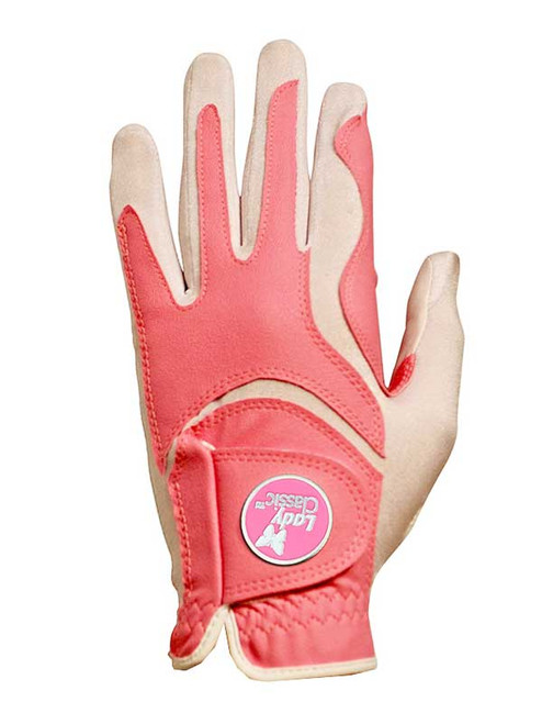 Lady Classic Ladies Form Fit Ball Marker Glove - Pink