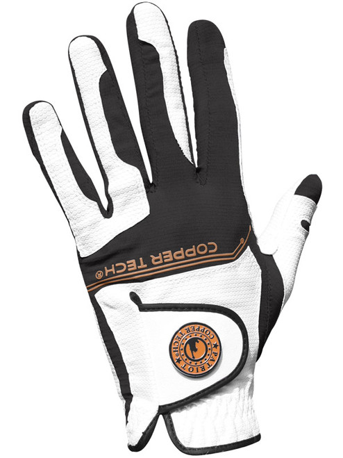 Copper Tech All Weather Golf Glove - White/Black