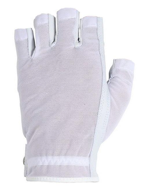 Lady Classic Ladies Solar Half Glove - White