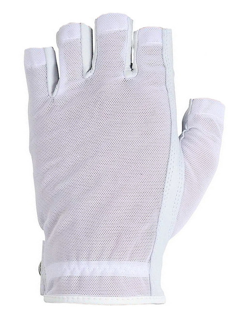 Lady Classic Ladies Solar Half Glove - White