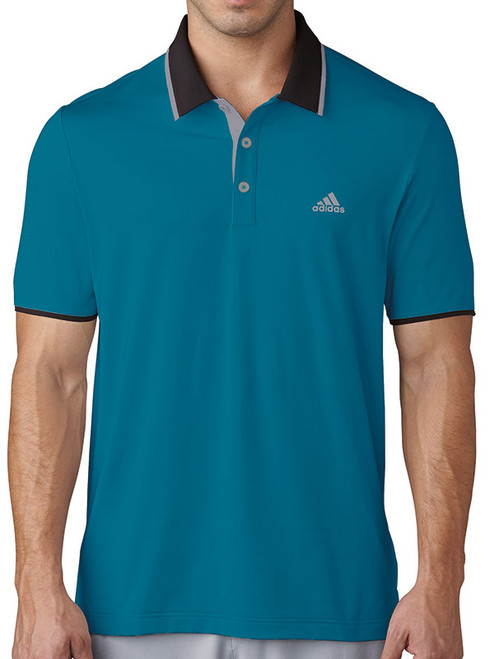 Adidas Climacool Branded Performance Polo - Mystery Petrol