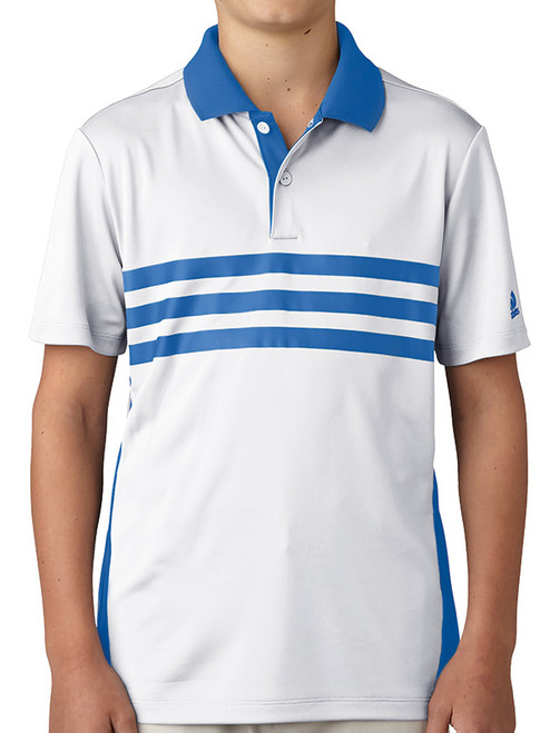 Adidas Junior Boys Merch Polo - White
