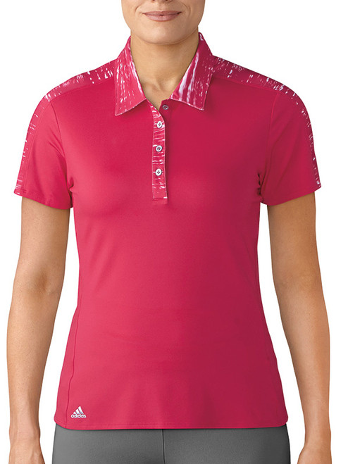 Adidas Ladies Merch Polo - Energy Pink
