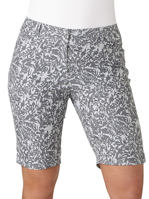 Adidas Ladies Printed Bermuda Short - Trace Grey