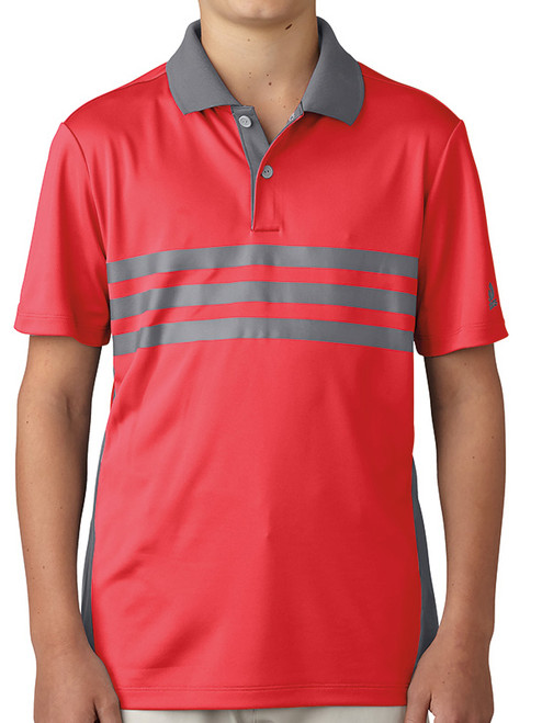 Adidas Junior Boys Merch Polo - Core Red